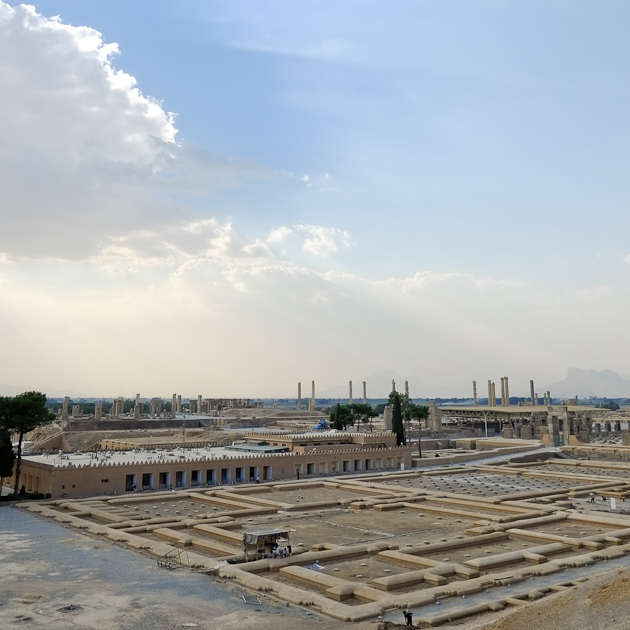 View from the hill - the clouds were producing some mesmerising effects over Persepolis Iran