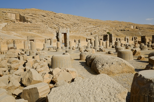 The remains of Persepolis, Iran