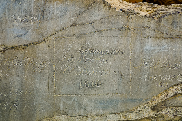 Graffiti engraved into the marble of Persepolis, often dating back hundreds of years.