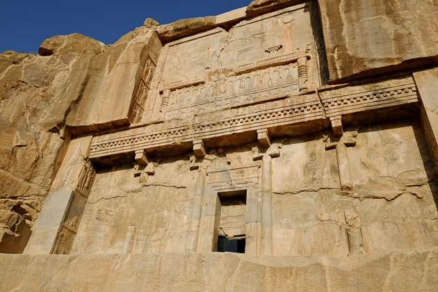 The King'st tomb, located in the hills looking down on Persepolis, Iran