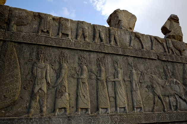 The walls of Persepolis Iran