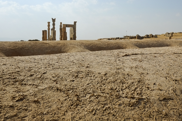 View back towards the majestic Gate of All Nations, Persepolis, Iran.