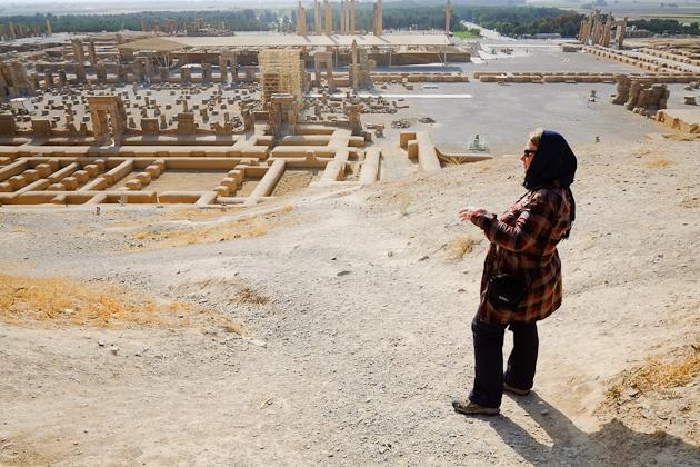 A lone tourist at Persepolis Iran