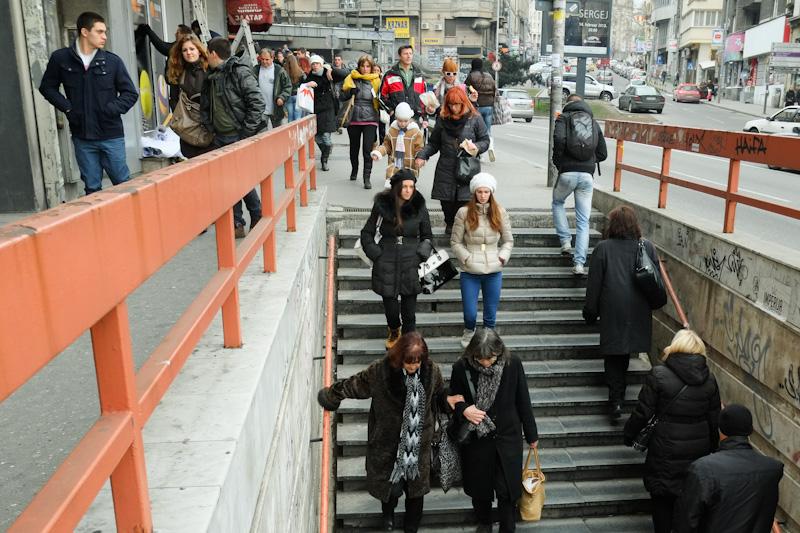 Belgrade underpass.