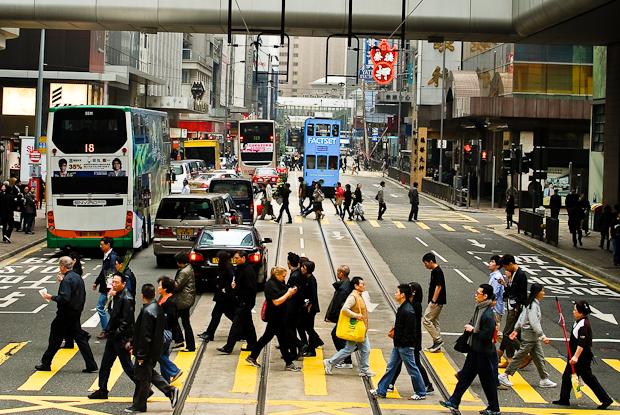 Hong Kong pedestrian crossing