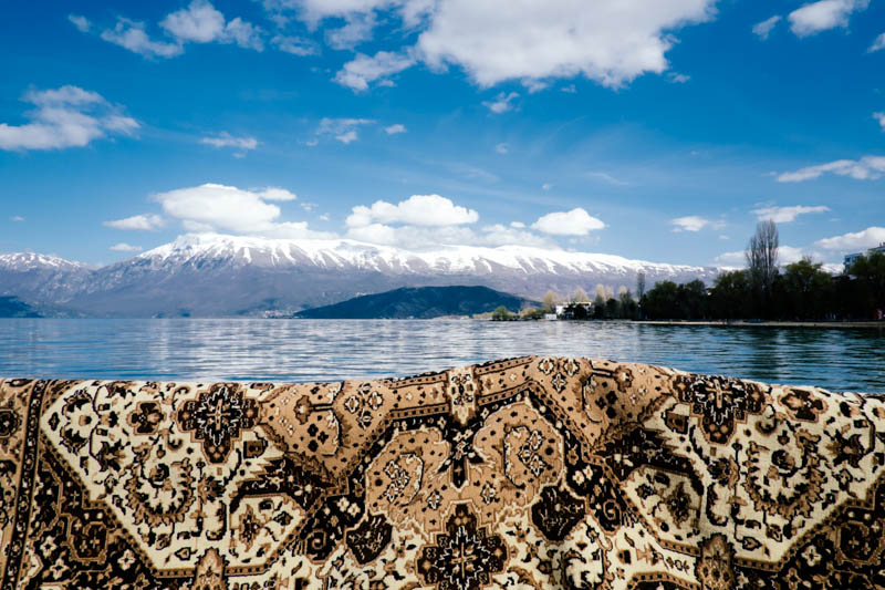 Pogradec, Albania. What's behind the rug?