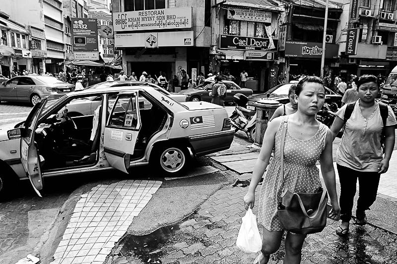 Typical mayhem on the streets of kuala lumpur, malaysia