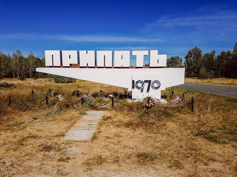 pripyat entry sign chernobyl