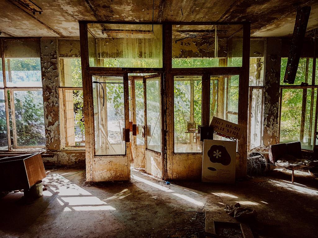 pripyat hospital lobby