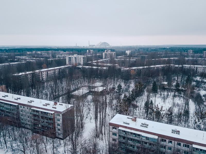 pripyat in winter chernobyl