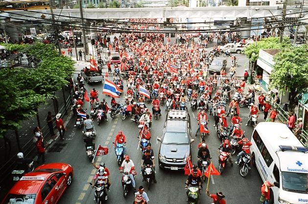 Protesters in Bangkok, Rachaprarop Road