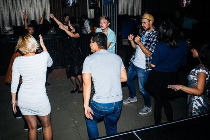 Putin Pub - dancefloor in front of the bar