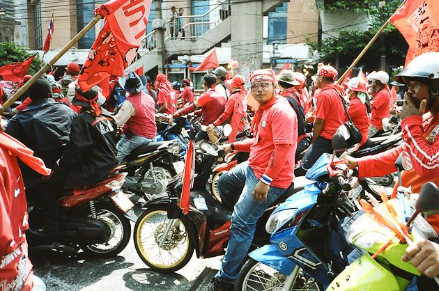 Rachaprarop Road, Bangkok - Protesters