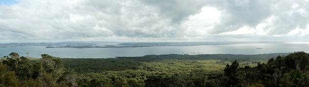 rangitoto volcano view