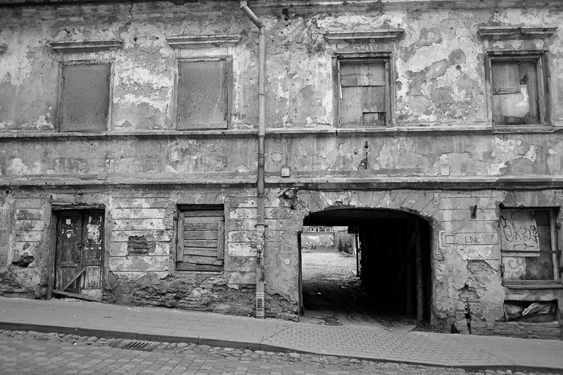 Main street Uzupis, near the Vilnia River.