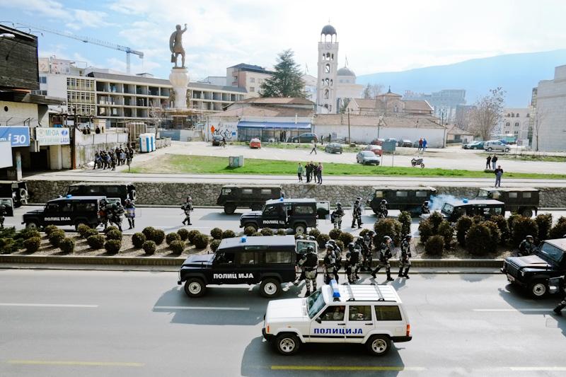 Riot in Skopje