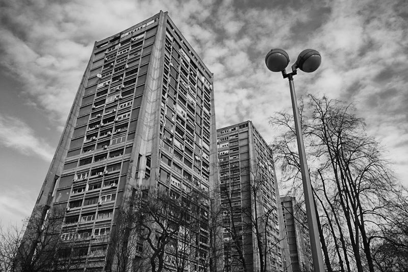 """""""Rakete"""" or """"Rockets"""". Communist-era apartment blocks in Zagreb. Architect - Richter."""