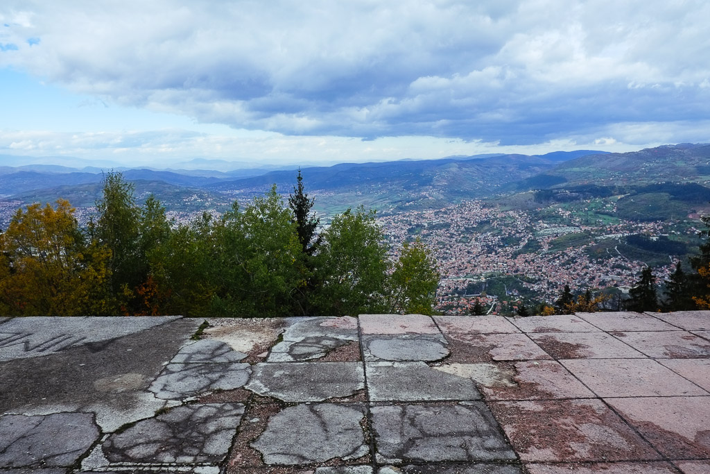 sarajevo view from bobsled track