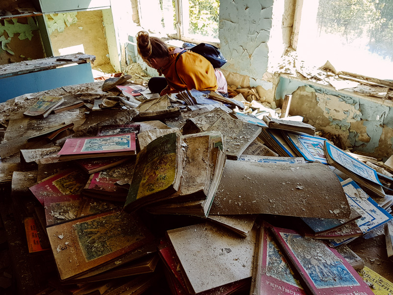 school books chernobyl pripyat