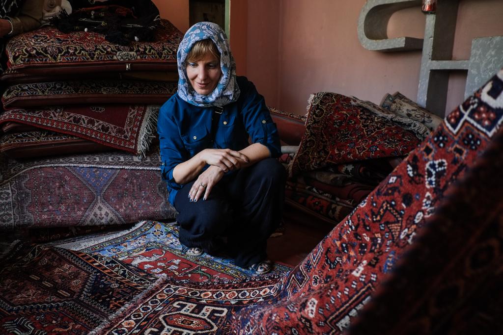 secret carpet shop iran