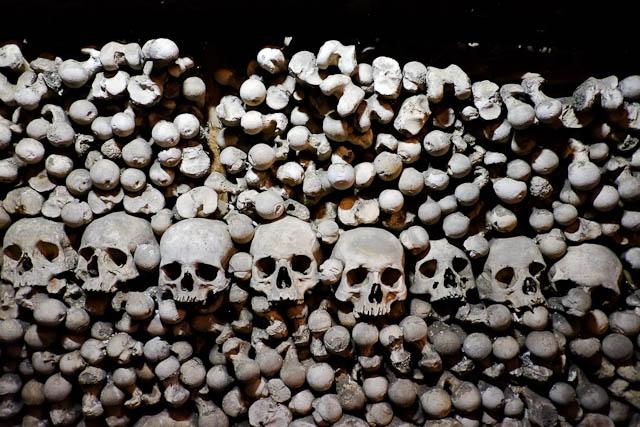 A whole pile of bones at Sedlec Ossuary