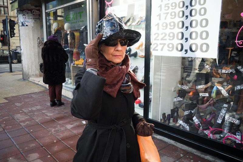 Hat lady in Belgrade