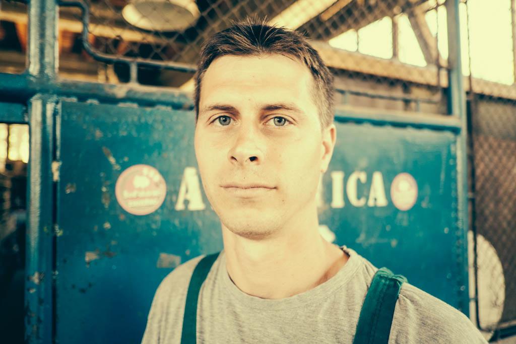 shipyard workers portraits, mali losinj, croatia