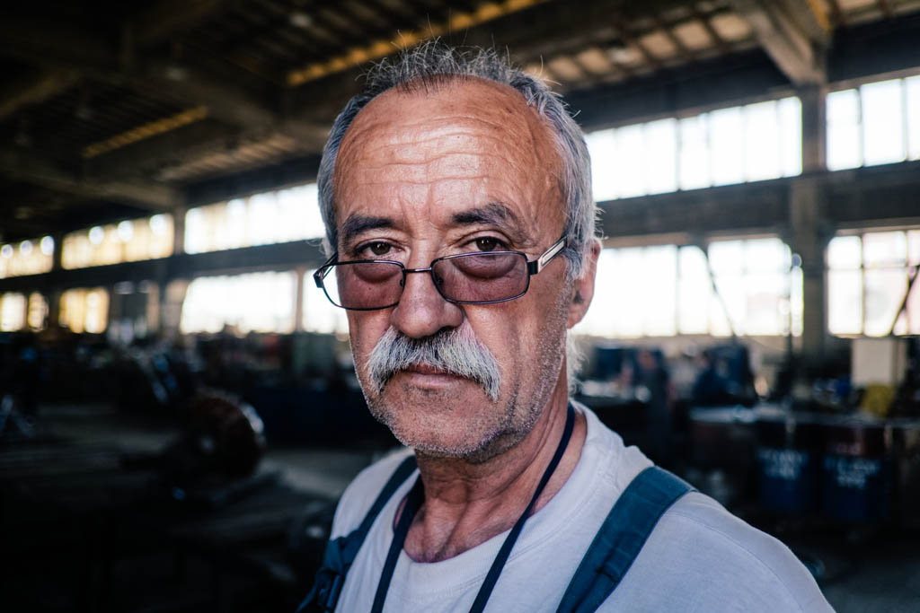croatian shipyard worker portraits