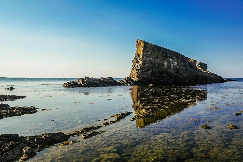 Sinemorets ship rocks beach Bulgaria.
