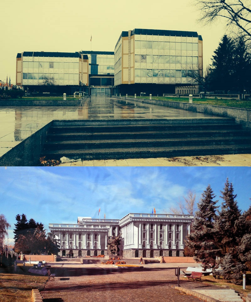 Before/after. A tragedy for Skopje? In my opinion, yes.