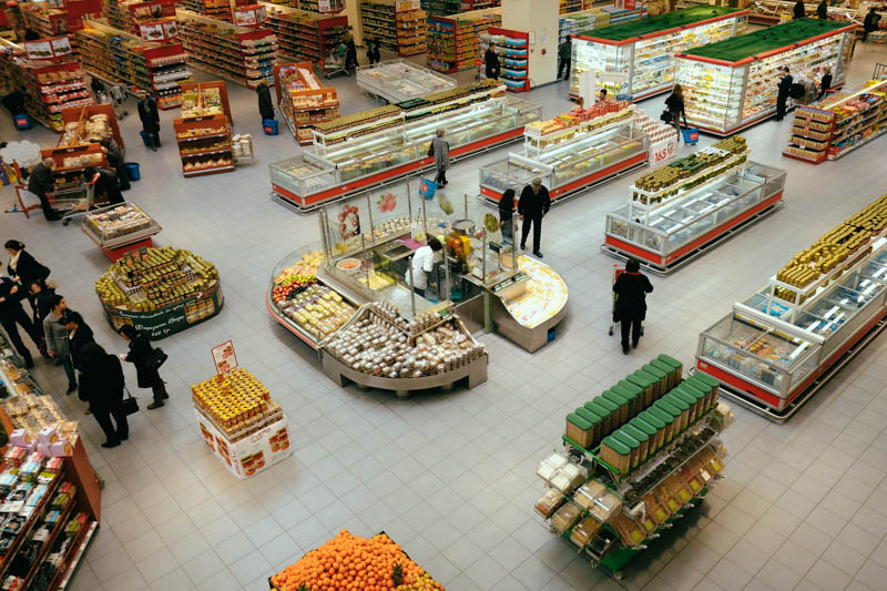 supermarket in Skopje, Macedonia