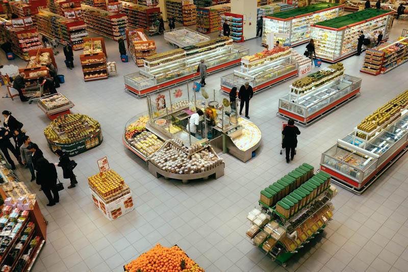 supermarket in Skopje, Macedonia