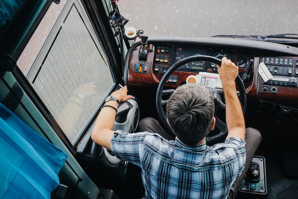 smoking serbian bus driver