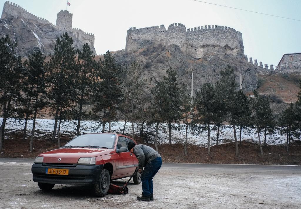 Akhaltsikhe, Georgia - snow tyres
