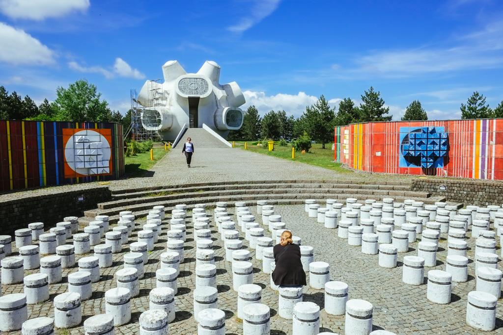 socialist yugoslavian communist monument krusevo macedonium