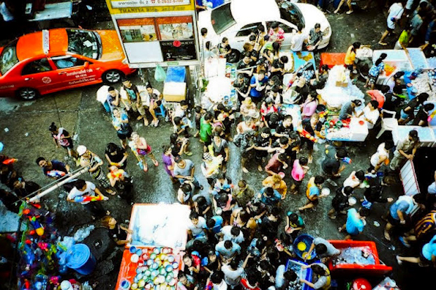 Songkran from above