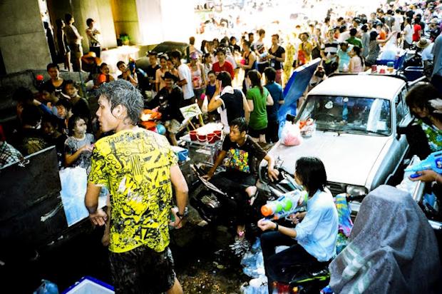 Songkran celebrations in Bangkok, Thailand
