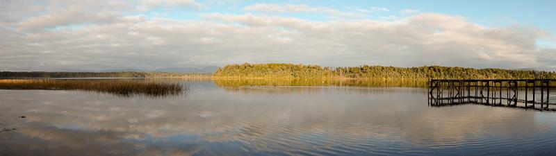 South Island lake panorama - New Zealand