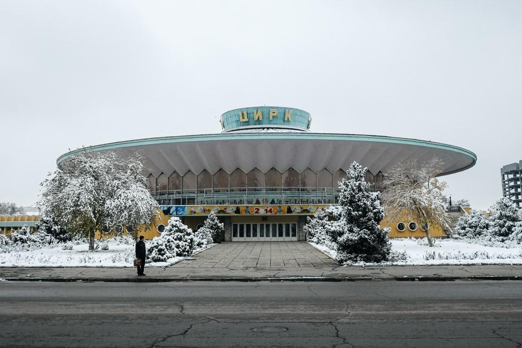 soviet communist architecture bishkek circus