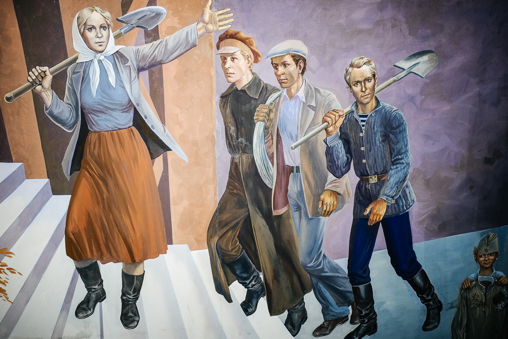 soviet mural kyrgyzstan