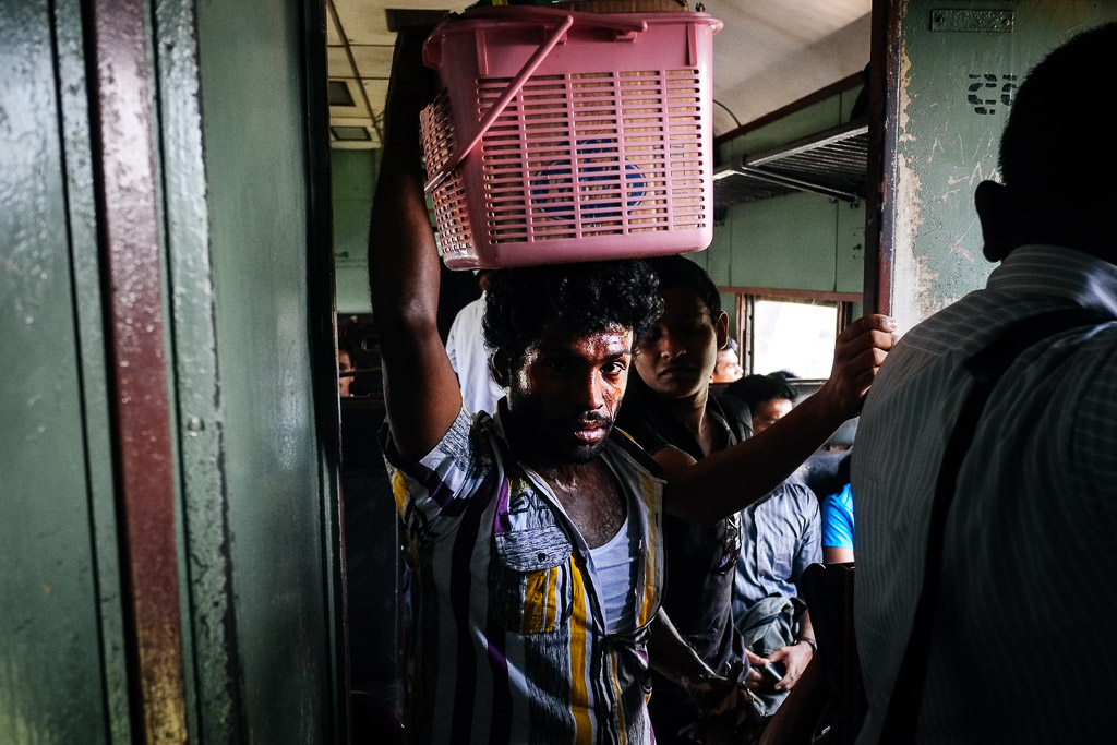 Vendor on the train from Colombo to Galle, Sri Lanka.