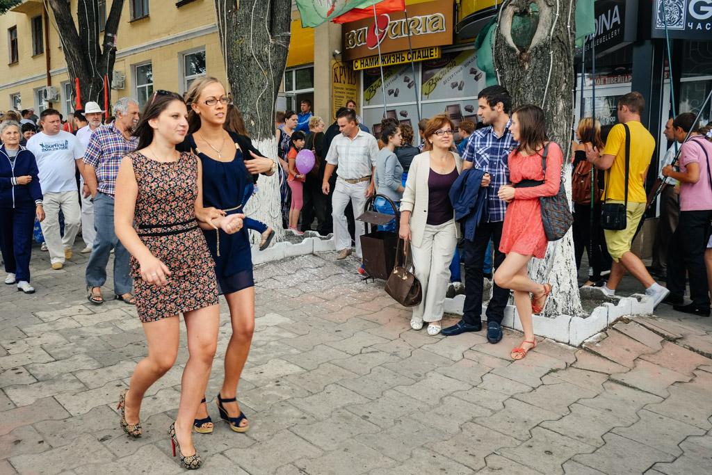 Typical street scene, Tiraspol, Transnistria.