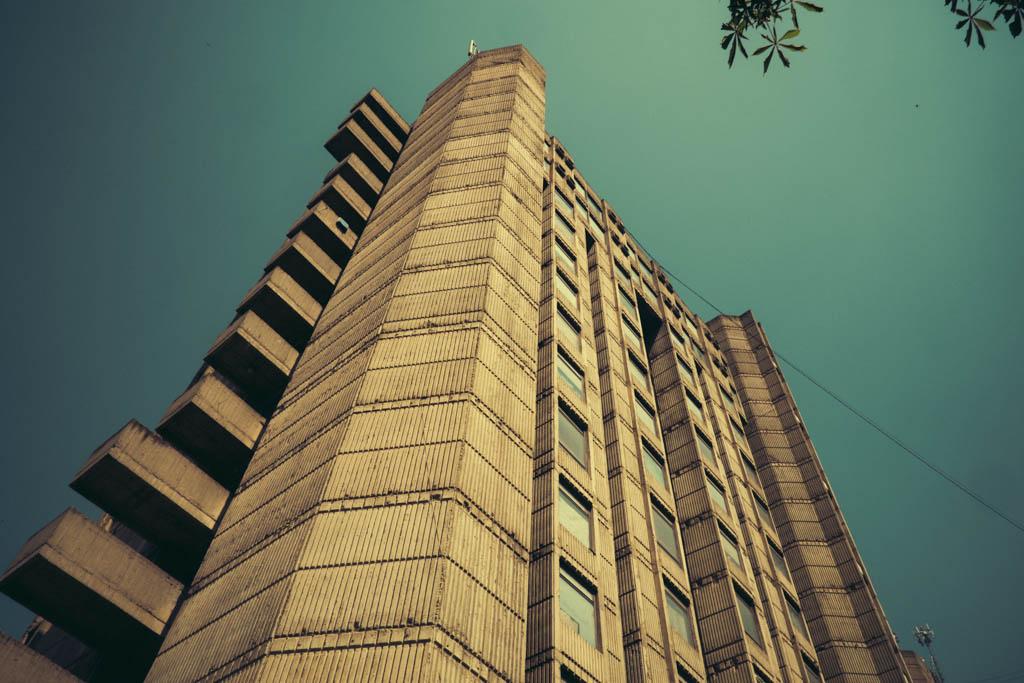 student dorm communist era brutalist architecture