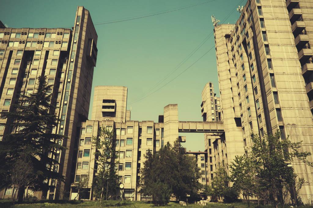 """Students dormitory buildings """"Goce Delčev"""" in Skopje - Georgi Konstantinovski"""