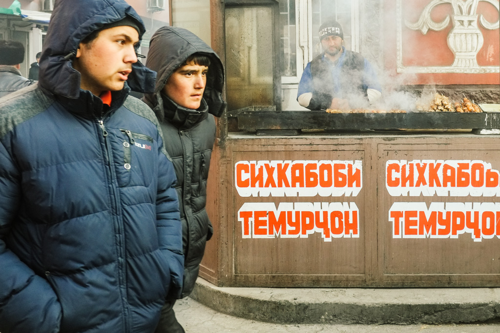 tajikistan food - shashlik