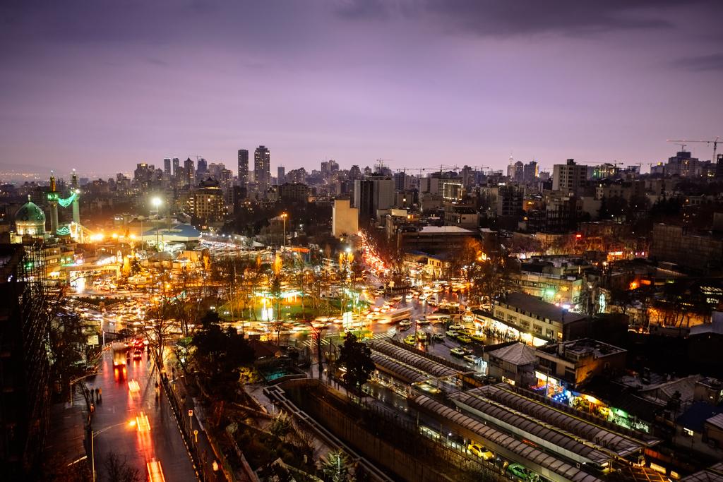 tehran skyline iran