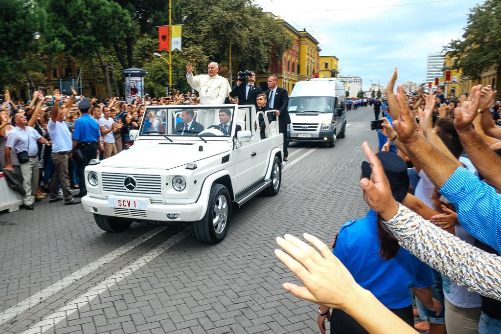 Pope. Tirana, Albania.