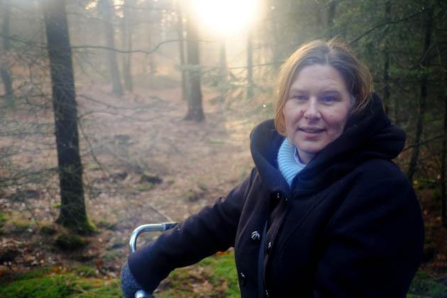 Phillipa at the Veluwe National Park