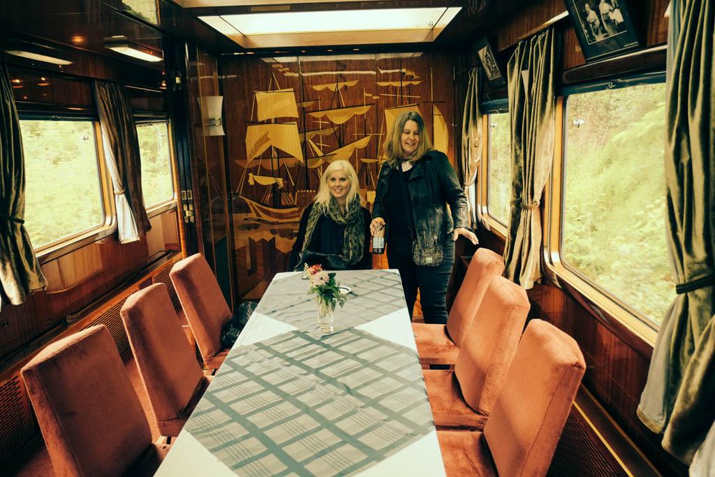 Tito's train dining room
