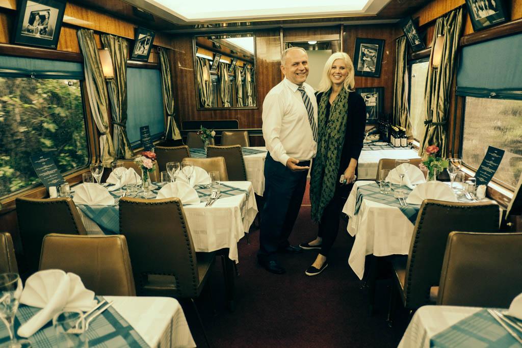 tito's blue train dining area yugoslavia